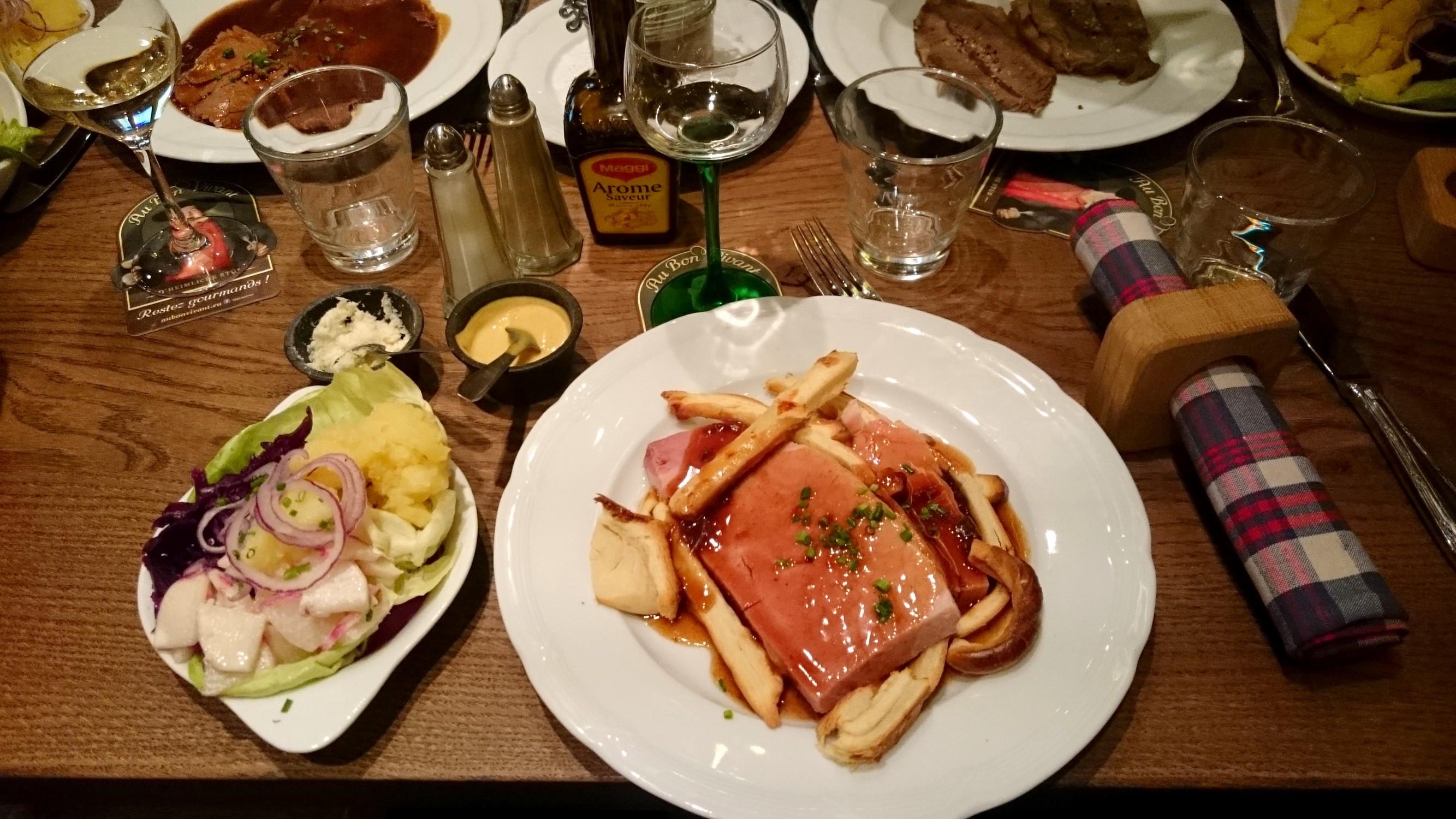 Jambon en croute Au bon vivant Winstub Restaurant Strasbourg