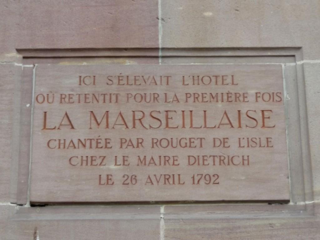 Plaques banque de france marseillaise rouget de lisle