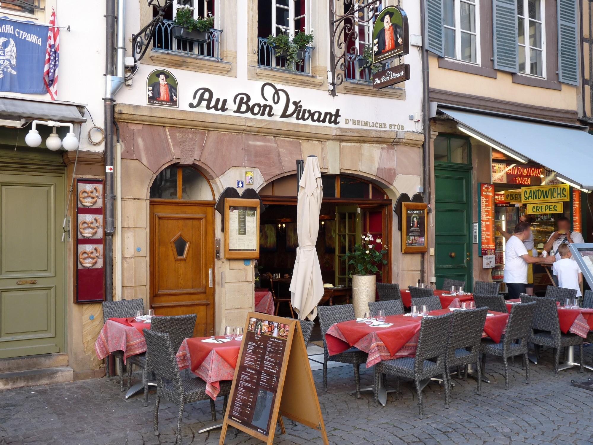 Au bon vivant Winstub Restaurant Strasbourg