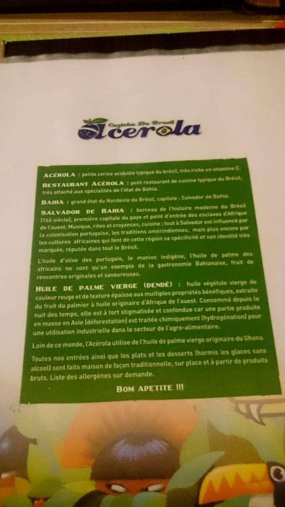 Acérola Restaurant Brésilien Krutenau Strasbourg