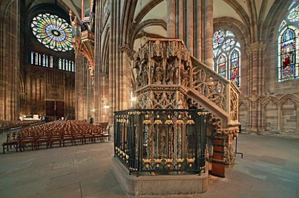 chaire la cathédrale de Strasbourg