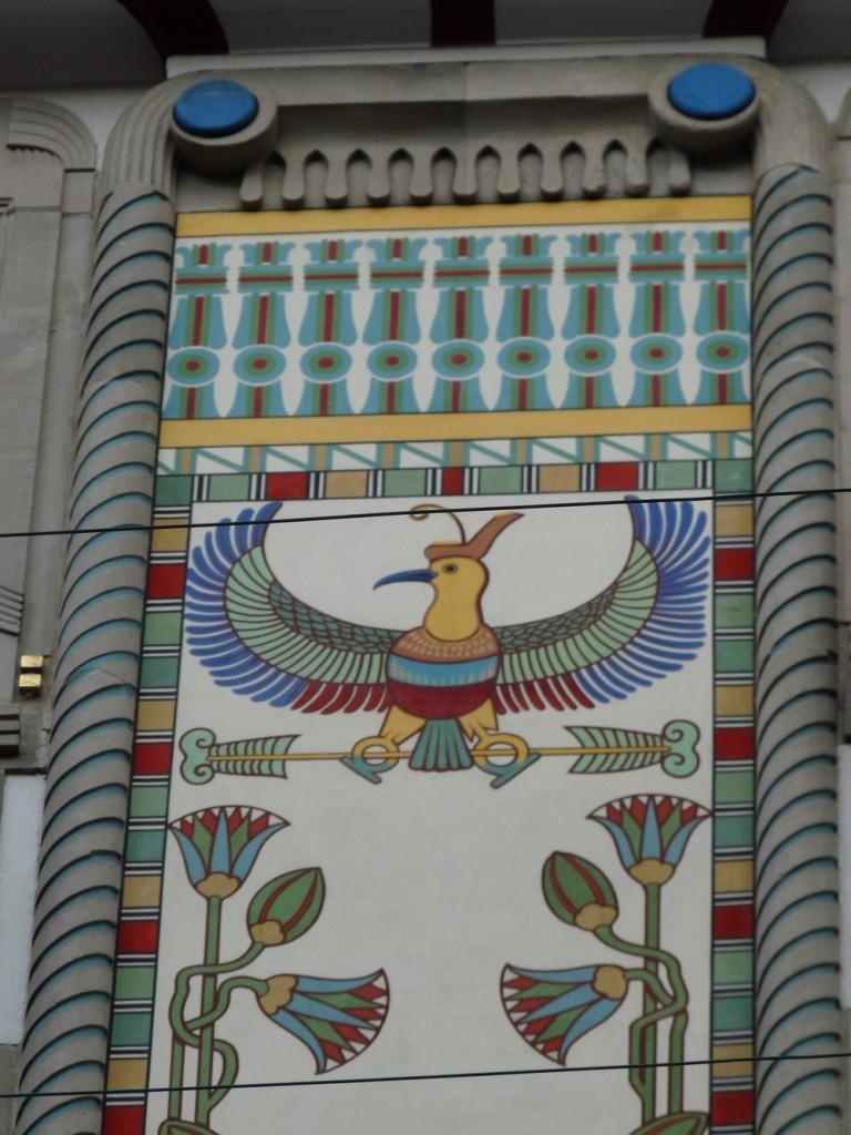 fresque oiseau maison égyptienne Strasbourg