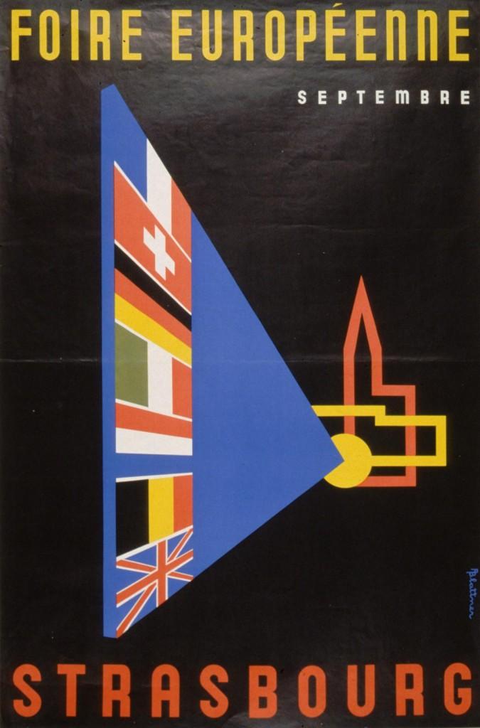 1958 affiche foire européenne Strasbourg