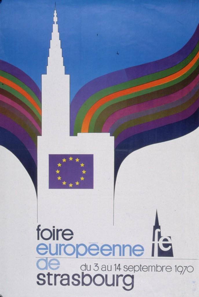 1970 affiche foire européenne strasbourg