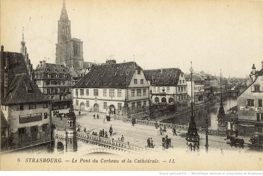 1920 Pont du Corbeau et la Cathédrale Lévy & ses fils