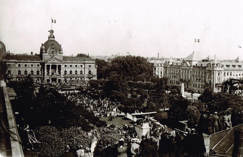 Place de la République Strasbourg 14 Juillet 1919