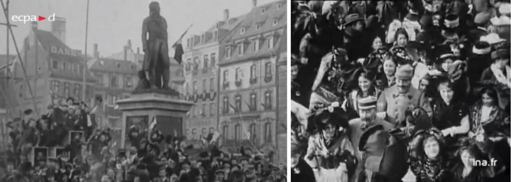 Libération Strasbourg 1918 liesse