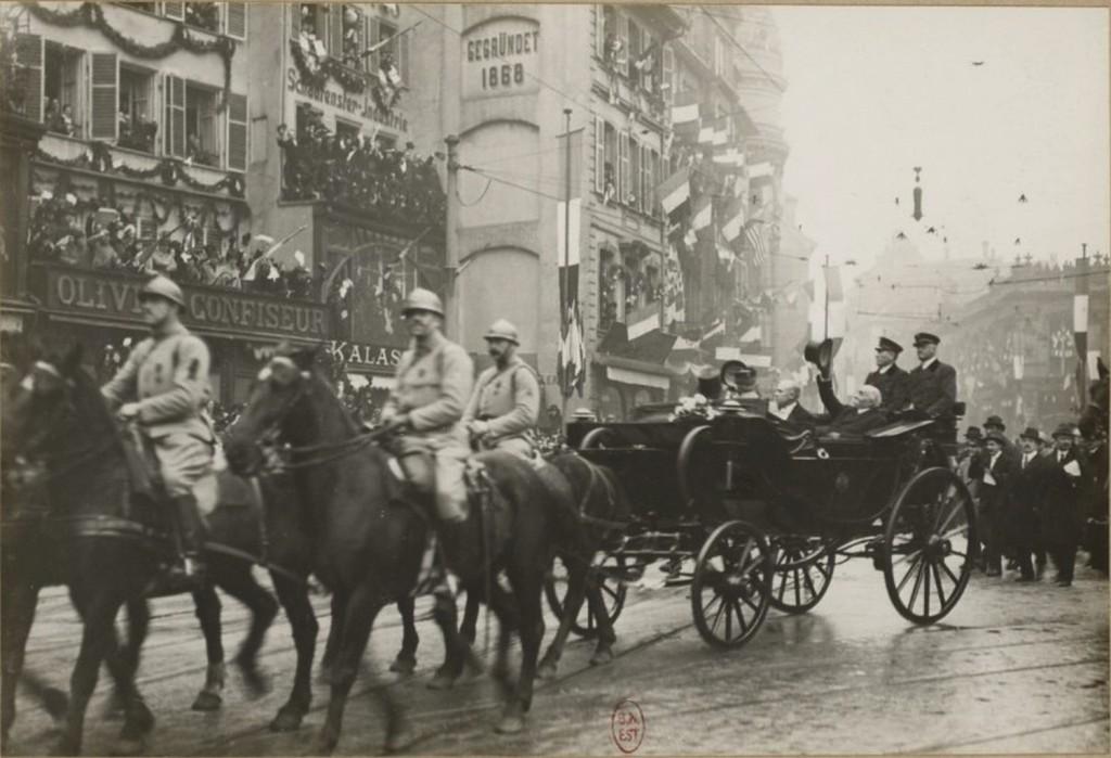 Libération Strasbourg 1918 Clémenceau et Pointcarré