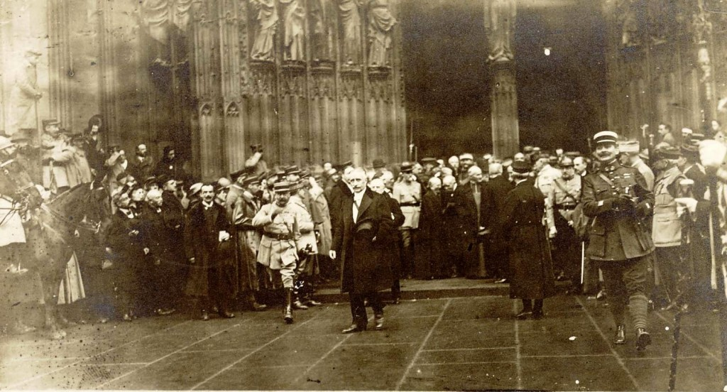 1918 9 dec visite pointcaré cathédrale