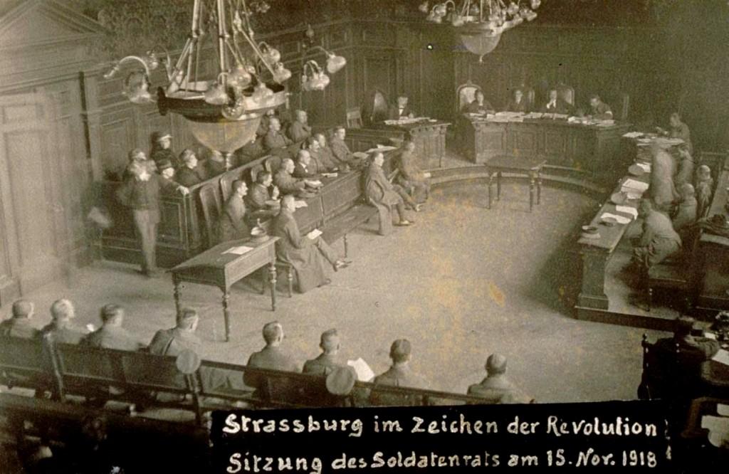 Le conseil des soldats à Strasbourg 15 Novembre 1918