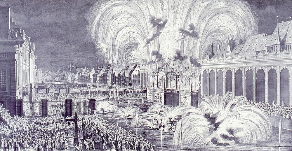 1744 Louis XV feu d'artifice Strasbourg