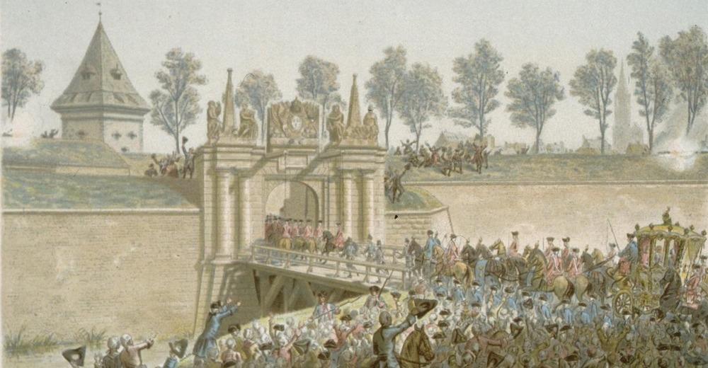 1744 Porte de Saverne en 1744 (Entrée de Louis XV) Strasbourg