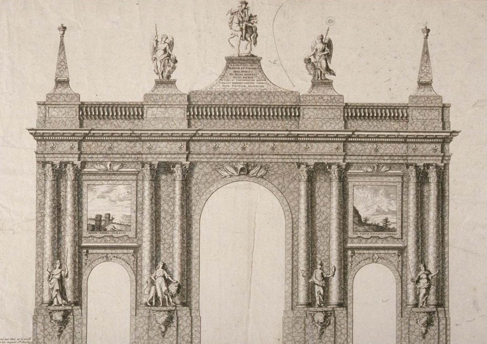 1744 arc de triomphe louis XV STRASBOURG
