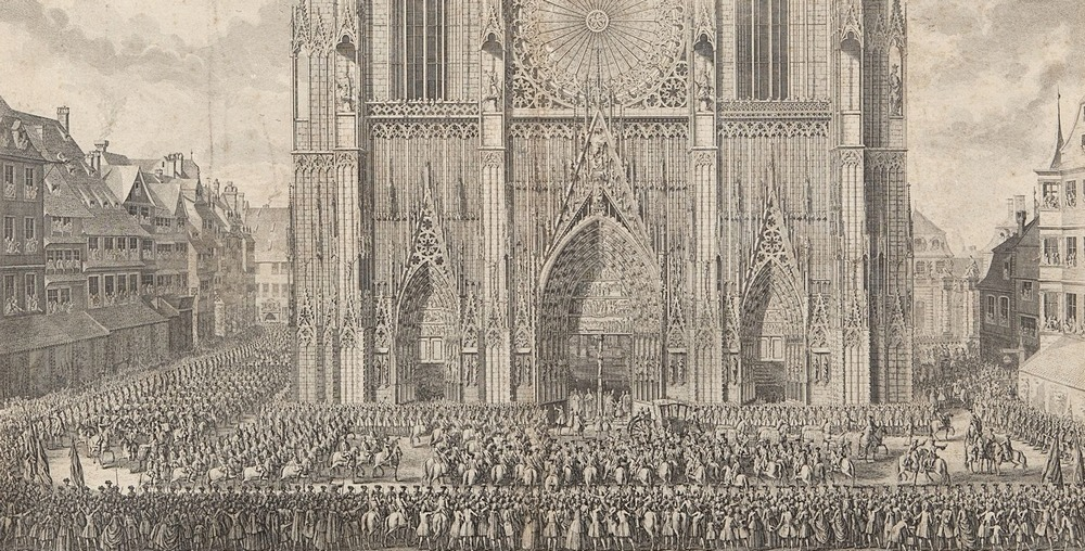 1744 arrivee Louis XV Cathédrale Strasbourg