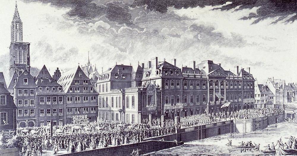 1744 cérémonie louis 15 Palais Rohan Strasbourg