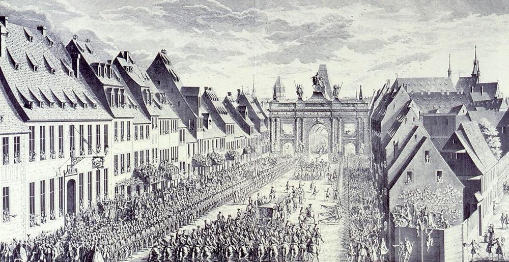 1744 Roy entrée faubourg saverne Strasbourg