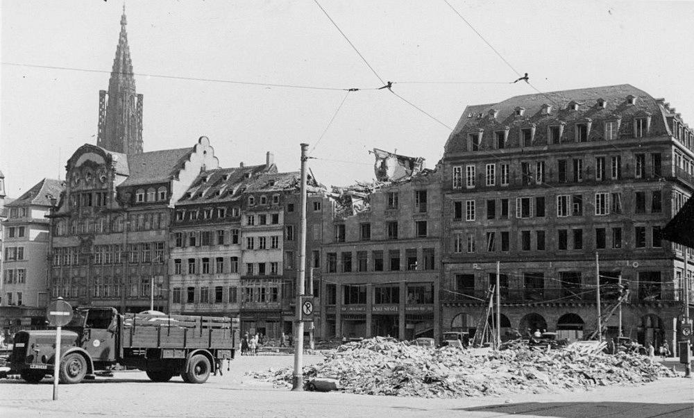 Strasbourg deuxième guerre mondiale WW2 bombardements alliés Alsace