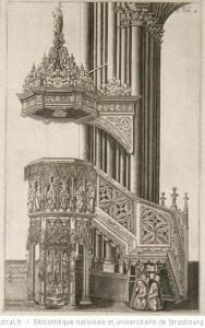 La Chaire de la Cathédrale de Strasbourg (Gravure de 1617)