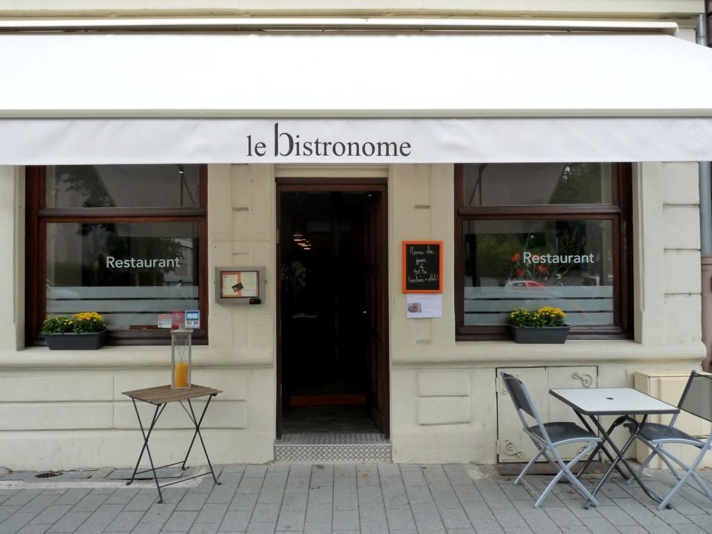Devanture Bistronome Strasbourg restaurant français