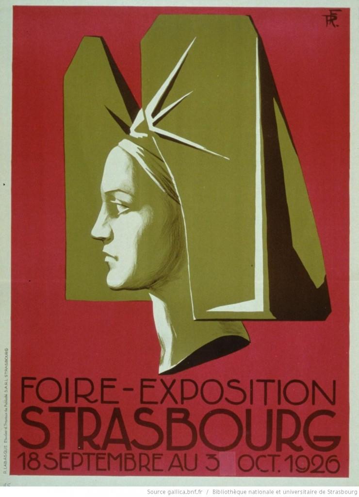 1926 Foire-exposition affiche 18 septembre-3 octobre 1926