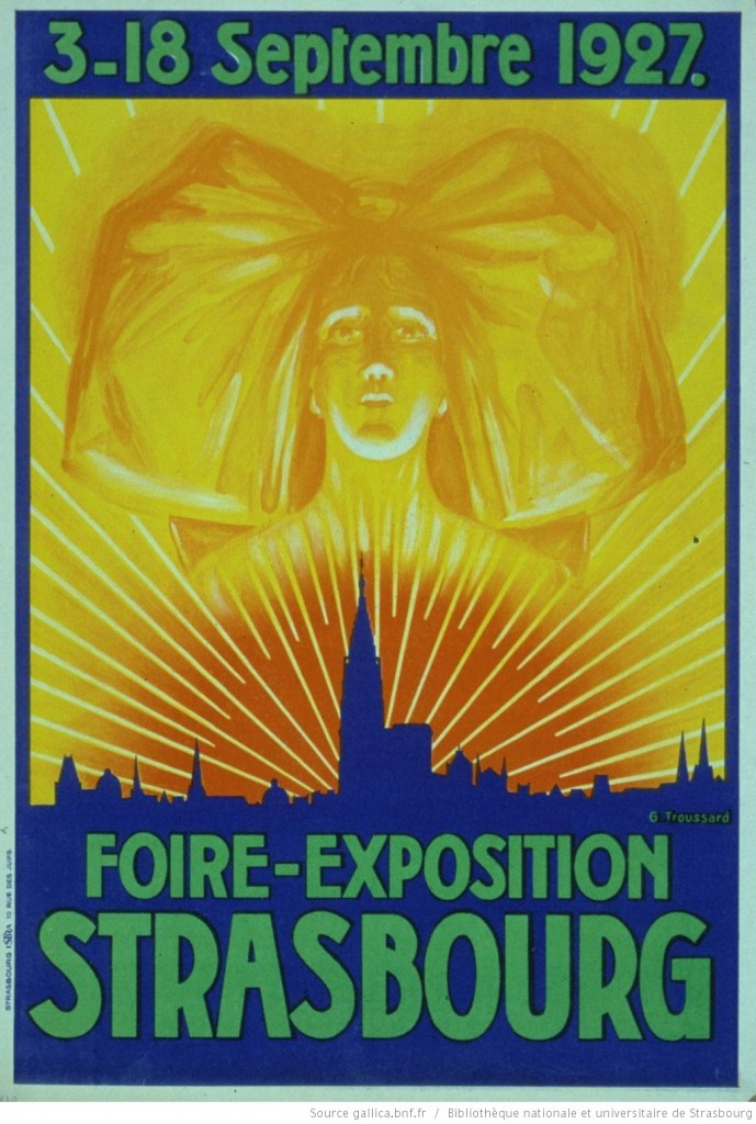 1927 affiche Foire-exposition Strasbourg, 3-18 septembre 1927