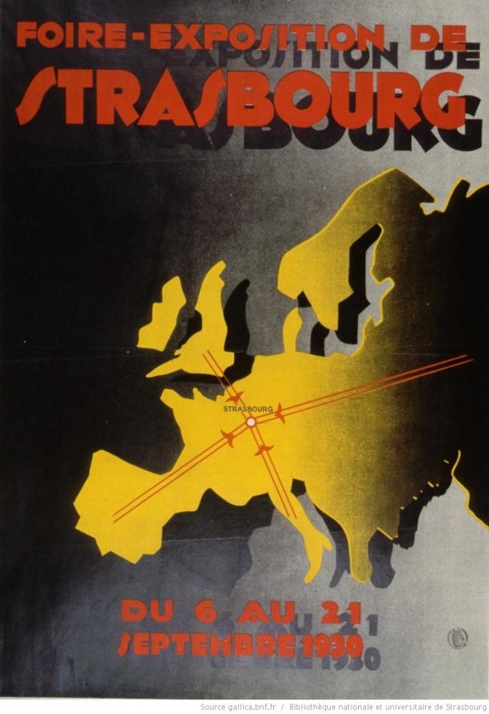 1930 affiche foire européenne strasbourg