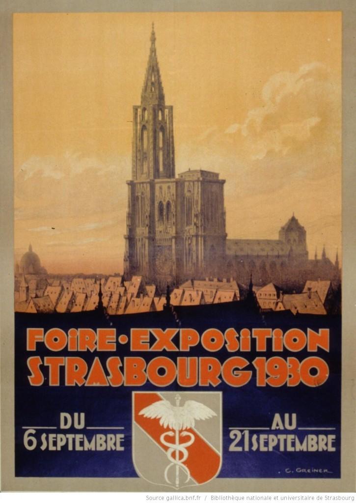 1930 Foire exposition Strasbourg, du 6 septembre au 21 septembre 1930