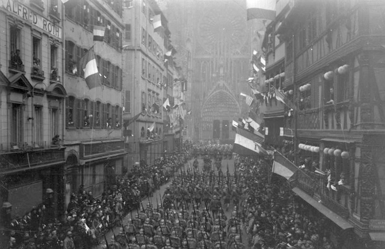 [Photos] Revivez le retour de Strasbourg à la France en 1918 !