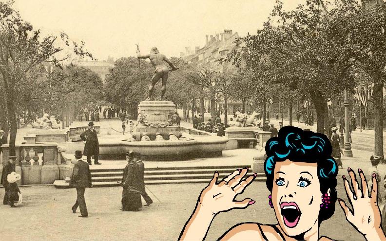 Le Vater Rhein : Un postérieur trop gênant sur la Place Broglie