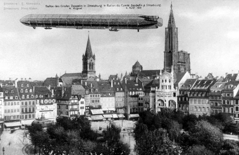 L'histoire malheureuse du Zeppelin qui survola Strasbourg en 1908