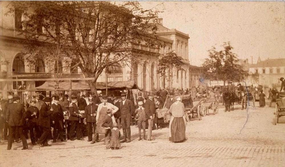 Ancienne gare marché couvert Strasbourg disparu