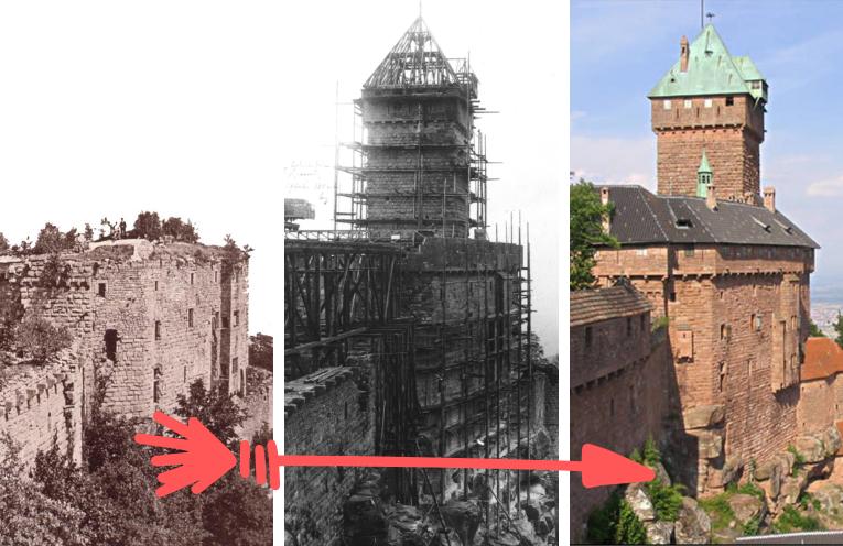 L'incroyable restauration du Haut-Koenigsbourg au début du XXe siècle