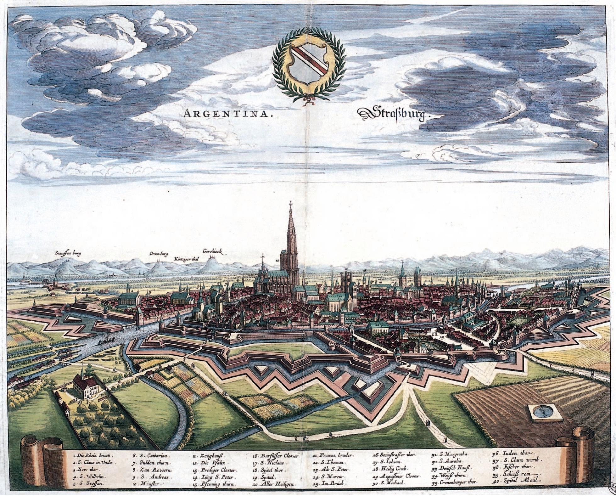 Une représentation de Strasbourg en 1644