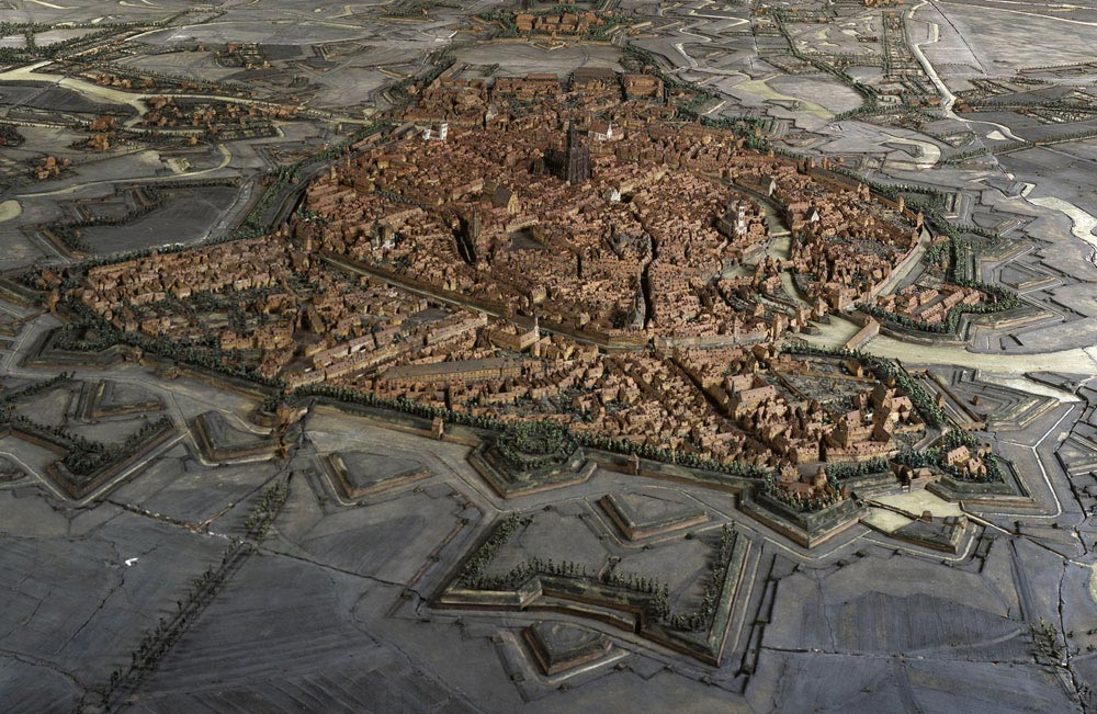 Plan relief de Strasbourg, de 1727 (photo de M Bernhart)