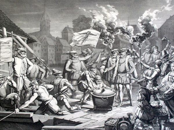 Le serment des zurichois envers Strasbourg avec une marmite