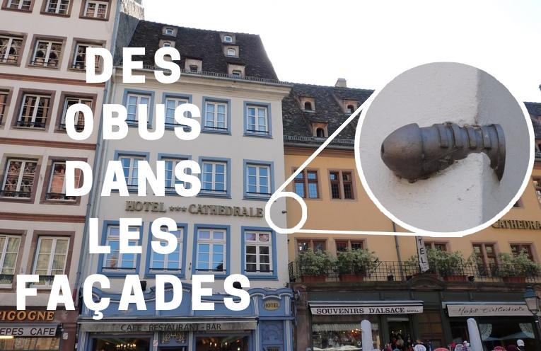 Des obus de 1870 dans les façades strasbourgeoises
